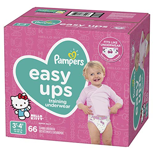 (Pampers Easy Ups Training Underwear Girls Size 5 3T-4T 66 Count)