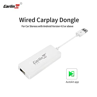 Carlinkit Wired CarPlay Dongle Android Auto for Car Radio with Android Head Unit, Install autokit app on car, Mirror Screen/SIRI/Voice Control/Maps/Online Upgrade Dongle, NOT for OEM Factory Car Unit: Car Electronics