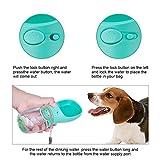 Lesfit Dog Water Bottle Dispenser Portable Pet