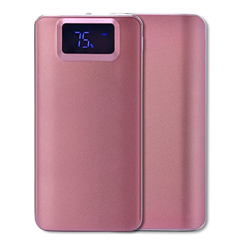 Price comparison product image T.Face New 10000mah Power Bank External Battery quick charge Dual USB LCD Powerbank Portable For cell phone battery (Hot Pink)