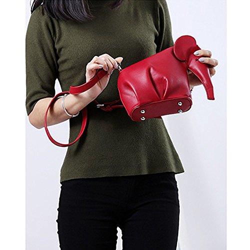 Women's Color Badiya Elephant PU body Bag Cross Red Style Candy Leather Mini Cute Bdtrtq
