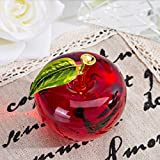 H&D Glaze Crystal Apple Paperweight Craft