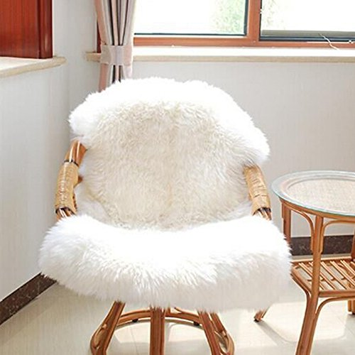 URIJK Faux Fur Sheepskin Rug Faux Fleece Chair Cover Seat Pad Shaggy Area Rugs With Super Fluffy For Living Room Bedroom Sofa Floor, 23.6x35.4 in by URIJK (Image #1)
