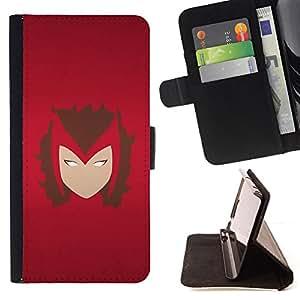 - Minimalist Superhero Face - - Prima caja de la PU billetera de cuero con ranuras para tarjetas, efectivo desmontable correa para l Funny HouseFOR Samsung Galaxy S4 IV I9500