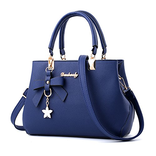 Women's Handbags Designer Purse Top Handle Satchel Tote Cute Bow Shoulder Bags Hobo Blue