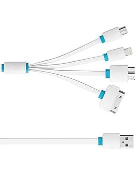 Cable de USB retráctil 4-in-1 multifunción cargador Cable de ...