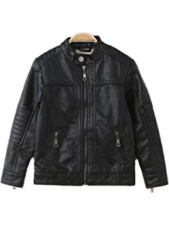 314819b8ef36 Amazon.com  LJYH Boys Leather Jacket New Spring Thick Velvet ...