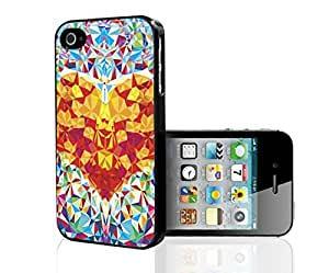 Kaleidoscope Heart with Geometric Shapes Hard Snap on Phone Case (iPhone 4/4s)