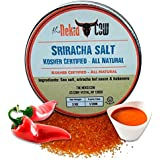 Sriracha Sea Salt - Kosher Certified Gourmet Seasoning - Pure Pacific Flake Indulgence - The Perfect Combination Of Sea Salt, Sriracha Hot Sauce, & Habanero - Packaged & Made in The USA