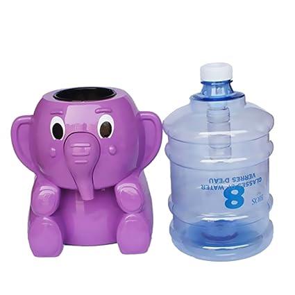 Dispensador de Agua Forma de Mini Elefante Embotellada Presión Regulador Enfriador de Agua - Púrpura: Amazon.es: Hogar
