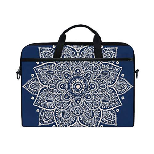 Floral Blue Mandala Cross Body Shoulder Messenger Laptop Bag