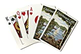 Chautauqua Lake, New York - Lake View and Sailboats (Playing Card Deck - 52 Card Poker Size with Jokers)