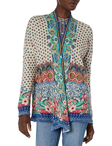 Johnny Was Women's Cotton Cashmere Blazer, Multi, L