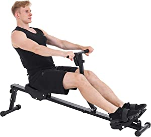 KUCATE Rowing Machine Rower for Home Use,12 Levels Adjustable Resistance Row Machine Exercise Equipment with LCD Monitor,265 lbs Weight Capacity