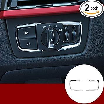 HOTRIMWORLD Interior Headlight Switch Button Frame Cover Trim for BMW 2 Series F22 2014-2018
