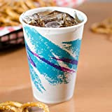 Decony 7 Oz Jazz Wax Coated Treated Paper Cold Cups 65% plant-based resources -100/pack -Plus 2 Reusable Clip on Cup Plastic Handles