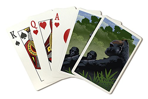 - Lowland Gorilla (Playing Card Deck - 52 Card Poker Size with Jokers)