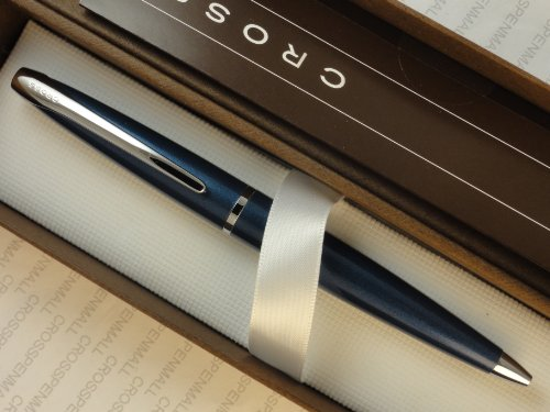 Cross ATX Ballpoint Pen - Celestial Blue with Chrome Appointments
