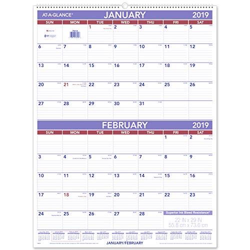 - AT-A-GLANCE 2019 Wall Calendar, 22