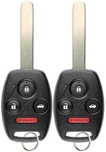 KeylessOption Keyless Entry Remote Control Uncut Car Ignition Key Fob Replacement for KR55WK49308 (Pack of 2) (2009 Keyless Accord Entry Honda)