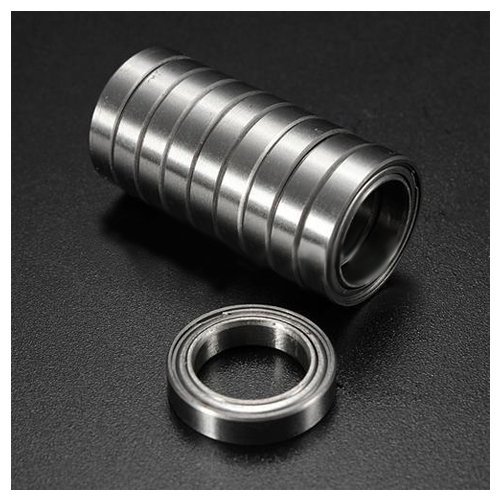 SODIAL(R) 10pcs Miniature Sealed Metal Shielded Metric Radial Ball Bearing Model: 6701 ZZ 12x18x4MM