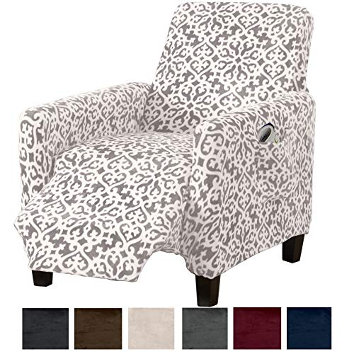 Great Bay Home Modern Velvet Plush Strapless Slipcover. Form