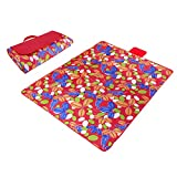 Red & Grass Paided Portable Picnic Blanket Waterproof Beach Mat Outdoor Camping Moistureproof Gift 200 200cm / 78.74 78.74in
