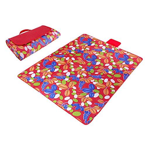 Rosso e erba Paided portatile Coperta da picnic impermeabile spiaggia Mat Outdoor camping Moistureproof Gift 130 200 cm 51.18  78.74 in