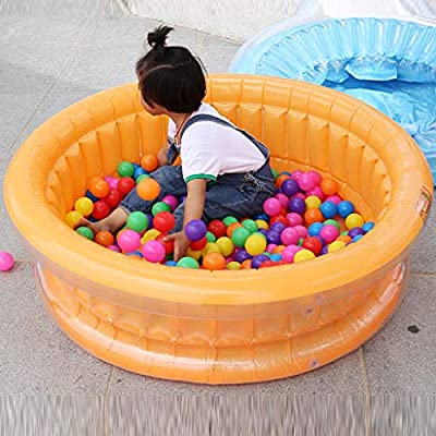Inflatable Swimming Pools, Family Baby Children Pool Fishing Ocean Ball Pool Portable Outdoor Indoor Basin Bathtub Garden Backyard Water Play-L:30W:25H:8CM (Blue): Kitchen & Dining