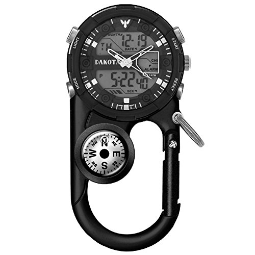 Clip Sports Pocket Watch - Clip Watches for Men, Analog and Digital Sports Waterproof Pocket Clip Watch