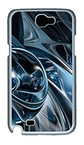 3D Abstract Hd Custom Designer Samsung Galaxy Note 2/Note II / N7100 Case Cover - Polycarbonate - White