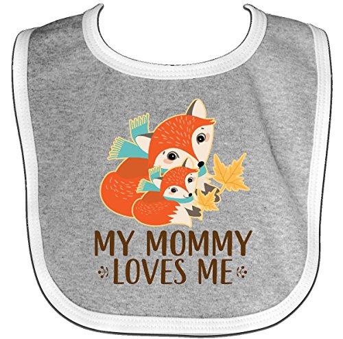 Inktastic - My Mommy Loves Me Fox Baby Bib Heather/White 2db22