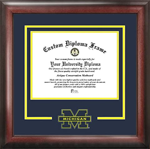 NCAA Michigan Wolverines Spirit Diploma Frame, 8.5 x 11