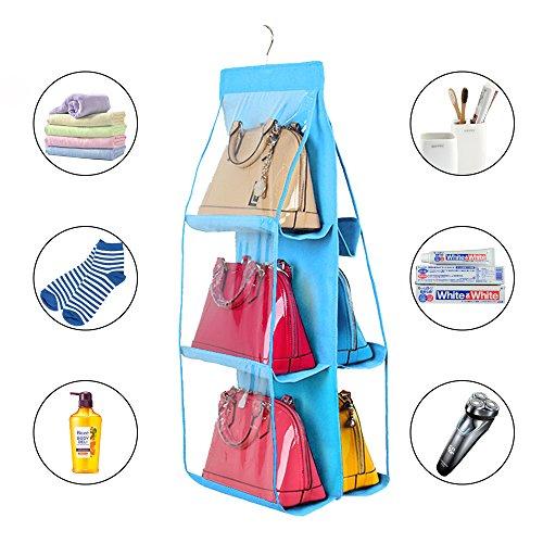 6 pocket  handbag storage