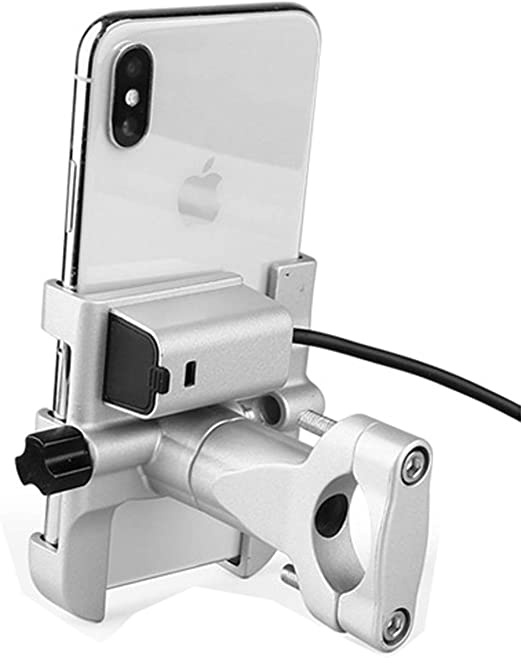 Motorcycle Handlebar Mirror Cell Phone Mount Holder /& USB Charger Port For Honda