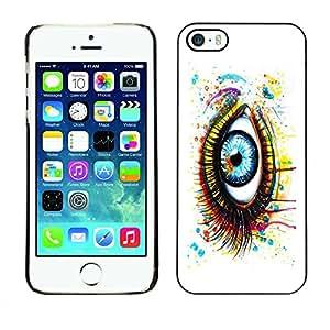 PC/Aluminum Funda Carcasa protectora para Apple Iphone 5 / 5S Painted Eye / JUSTGO PHONE PROTECTOR