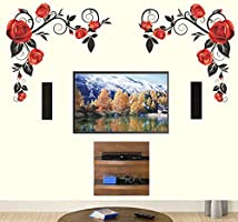 Decals Design 'Background Roses with Vine' Wall Sticker