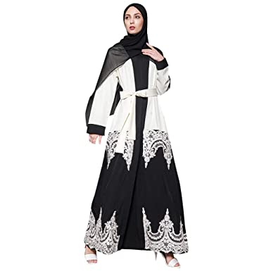 ddc8044f4abd2f Tootu Women Elegant Abaya Dress Muslim Robe Turkish Hijab Islamic Prayer  Dress at Amazon Women's Clothing store: