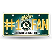 Rico MLB #1 Fan Metal Auto Tag