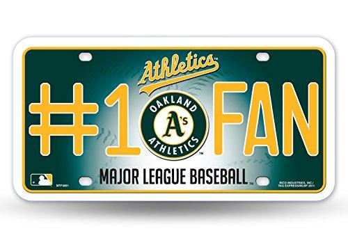 MLB Oakland Athletics #1 Fan Metal -