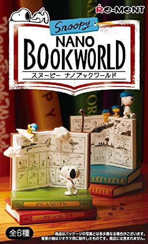 Snoopy NANO BOOK WORLD BOX商品 1BOX=6個入り、全6種類