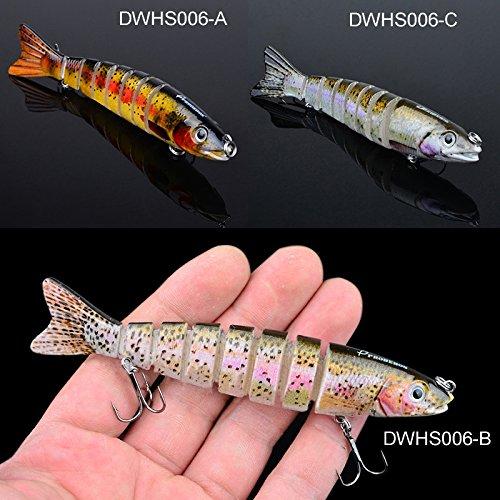 Zlimio Jigs Lures, 4.84? Jointed Fishing Lures Swimbait Life-like Crankbait Pike Bass Killer