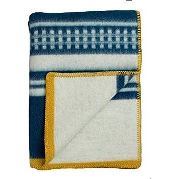 Roros Tweed Designer 100% Norwegian Wool Throw Blanket in Many Patterns (Arv in Blue)