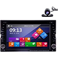 2017 EinCar Car Stereo with Android 6.0 OS Double 2 Din 6.2 HD Touchscreen Car DVD Player In Dash GPS Navigation Auto Radio Receiver Support WiFi/Bluetooth/OBD2/Mirrorlink/CAM-IN