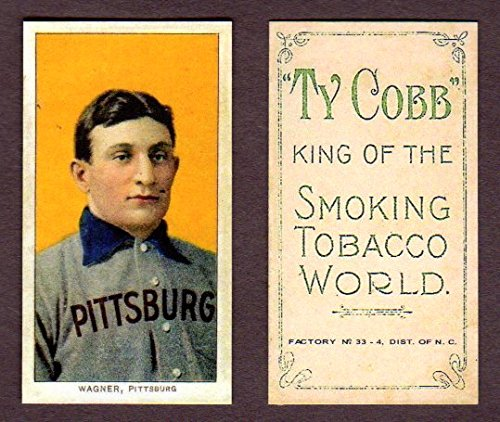 Honus Wagner 1909 T206 Tobacco Reprint Card with Ty Cobb Back (The Famous T206 Wagner) (Pittsburgh Pirates)