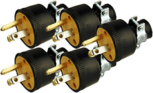 Male Cord End (Black Duck Brand Male Extension Cord Replacement Electrical Plugs End (5 Pieces))