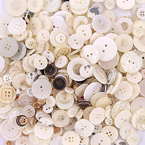 Esoca 650Pcs Shell Buttons for Crafts Assorted Sizes Resin Shell Craft Buttons for DIY Crafts Sewing Children