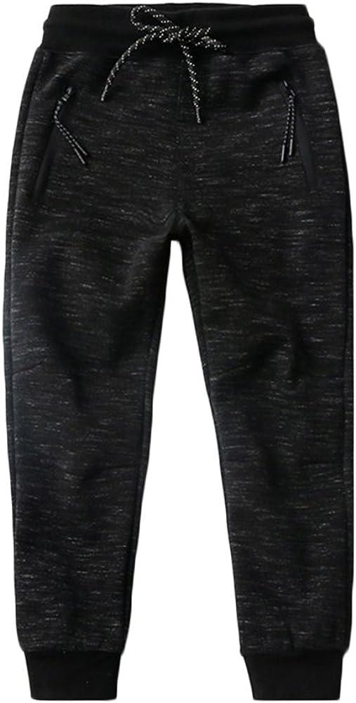 KISBINI Big Boys Cotton Elastic Sweatpants Sports Pants for Children