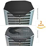 Ac Unit Cover - Conditioner Winter Waterproof Top Air Conditioner Leaf Guard Air Conditioner Cover with Open Mesh For Outside Units ( 2 Pack ) (Set A, 28'×28')