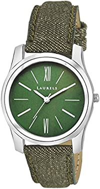Laurels Orchid Analog Green Dail Women Watch ( Lo-Orc-040407 )